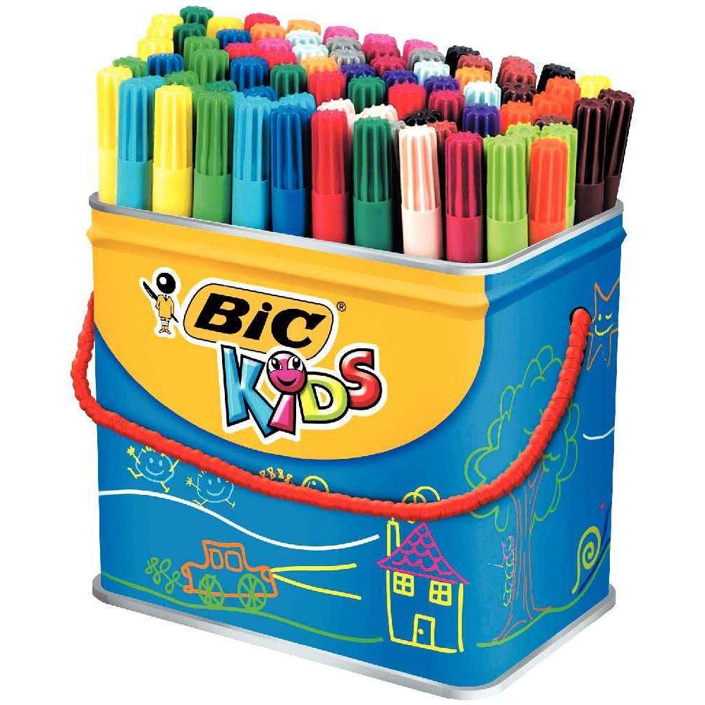Feutre Coloriage Pointe Moyenne Visa 880 Assorti Maxi Pot De 84 Bic Kids Vente De Feutre Coloriage Moyen La Centrale Du Bureau