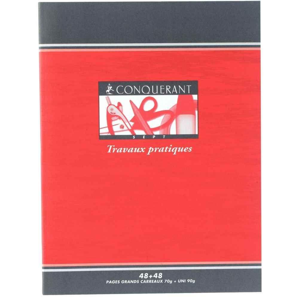 Cahier Travaux Pratiques Piqures Clairefontaine 17x22 Grand Carreaux 70g Dessin 96p