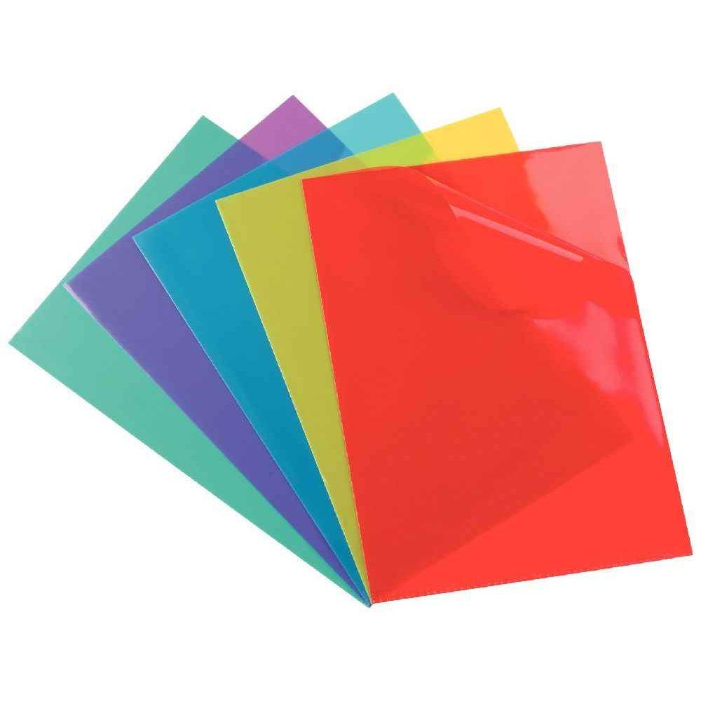 Pochette coin pvc a4 couleurs assorties boite de 100 for Pvc de couleur