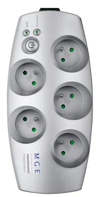 Protection secteur Merlin Gerin 5 prises + téléphone. Bloc prises de protection secteur Merlin Gerin 5 prises + téléphone