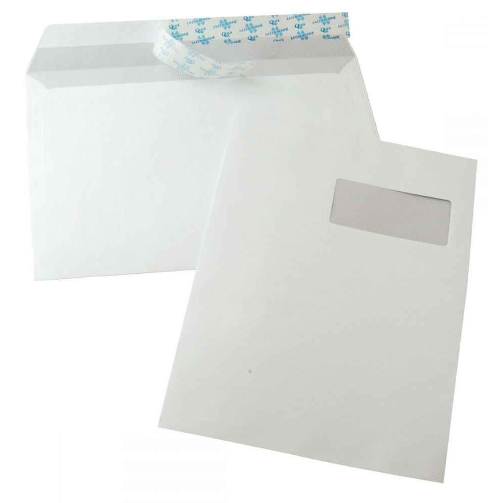 Enveloppe la couronne blanche c4 229x324 100g fen tre 50 - Fenetre grand format ...