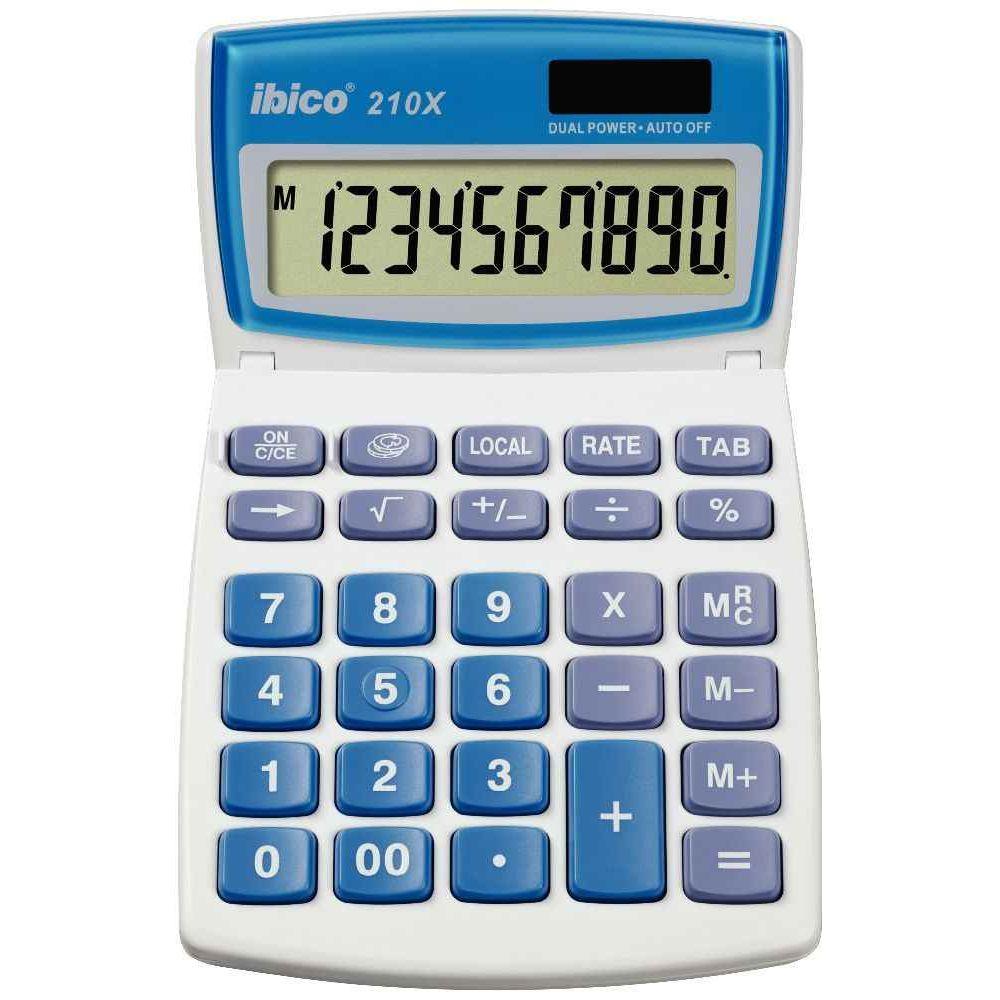 Calculatrice semi bureau ibico 210x 10 chiffres vente for Calculatrice prix