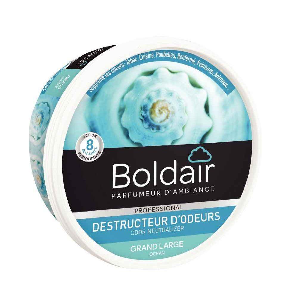 Boite gel destructeur d' odeurs Boldair. Boîte de gel destructeur d\'odeurs BOLDAIR. Les agents actifs naturels contenus dans le gel entrent en
