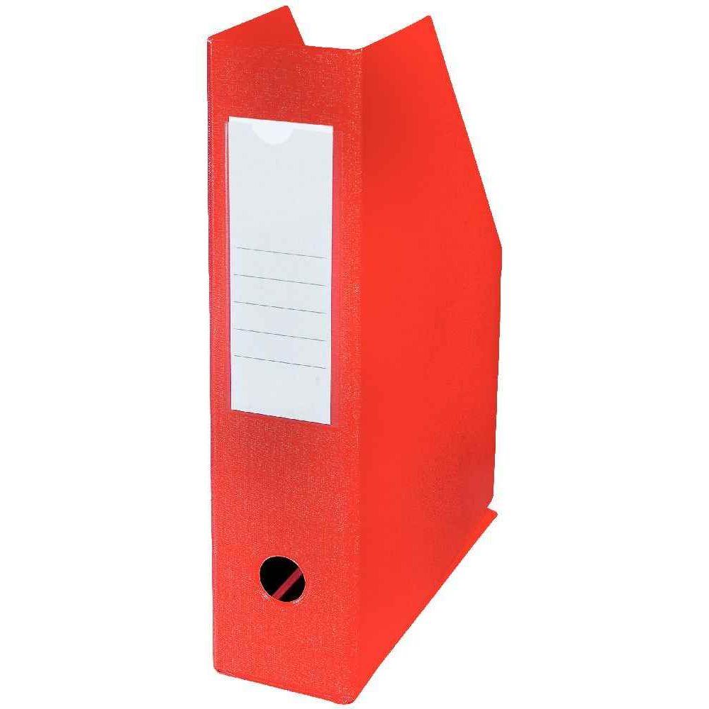 Boite de classement à pan coupé PVC dos de 7cm rouge Esselte