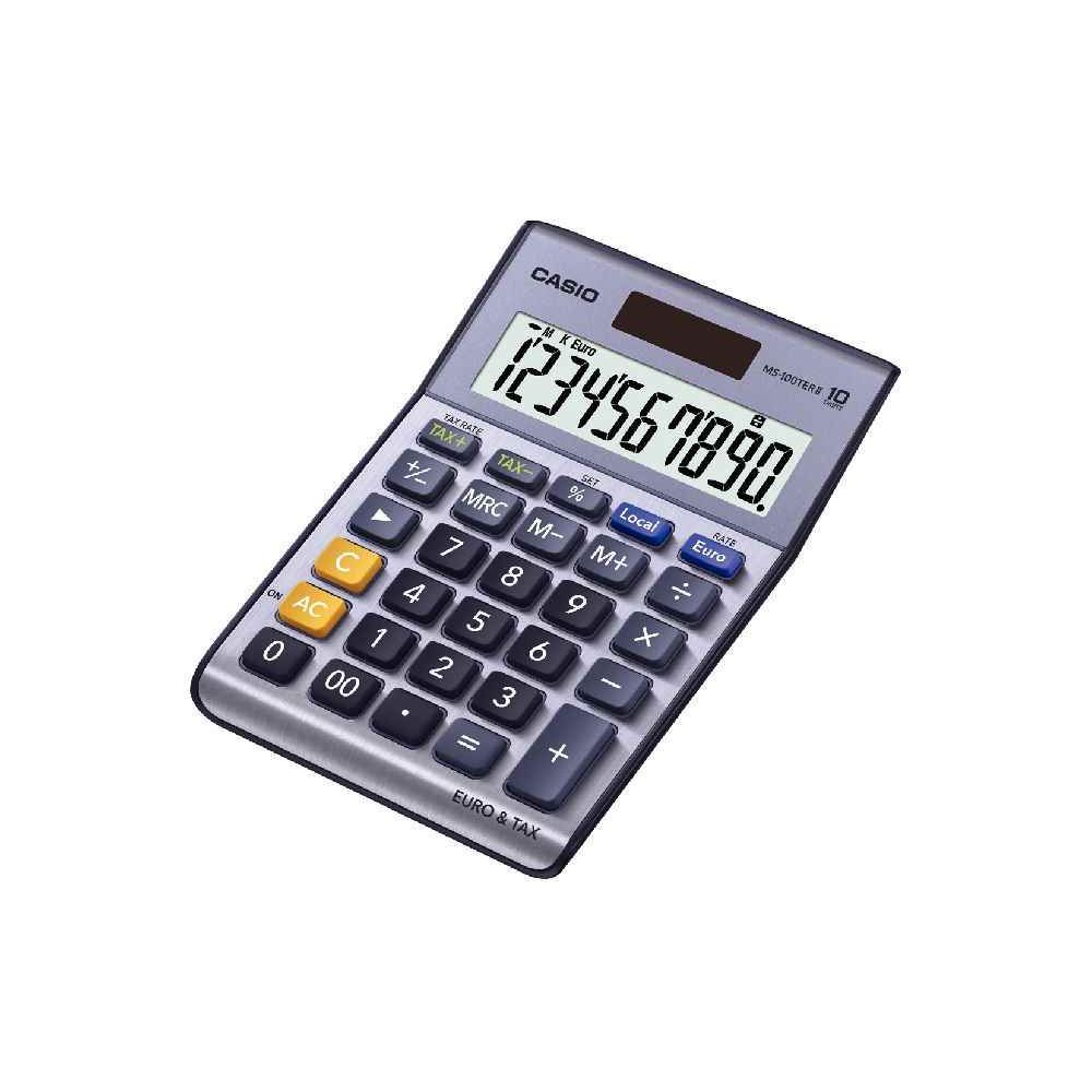 Calculatrice de bureau Casio ms100ter - 10 chiffres. Calculatrice de bureau Casio ms100ter - 10 chiffres