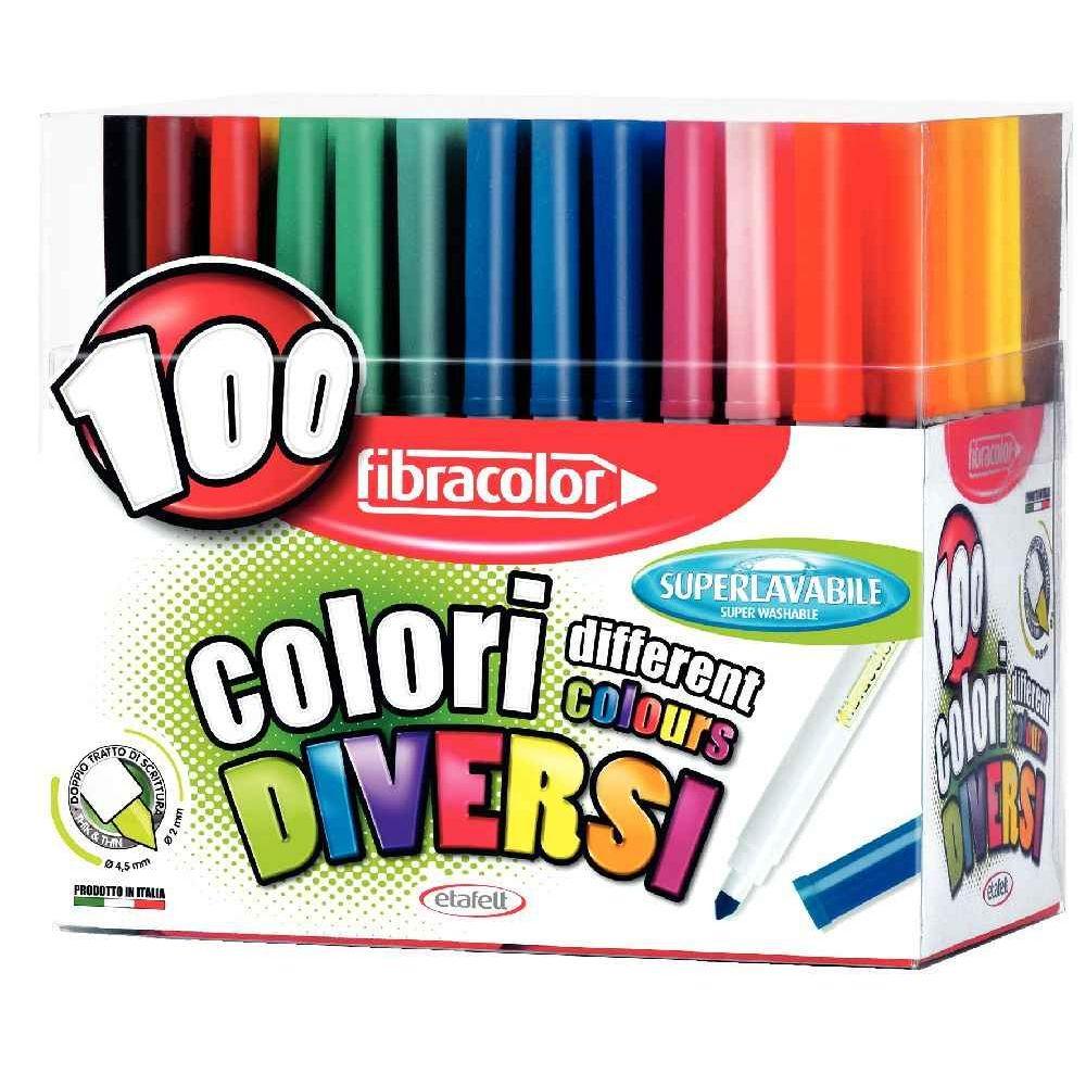 Feutre Coloriage Pointe Large Presentoir De 100 Fibracolor Vente De Feutre Coloriage Pointe Large La Centrale Du Bureau