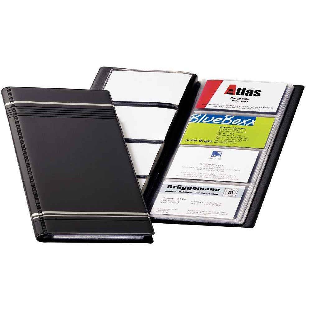 Porte carte visite 96 cartes visifix gris durable vente - Porte carte de visite de bureau ...