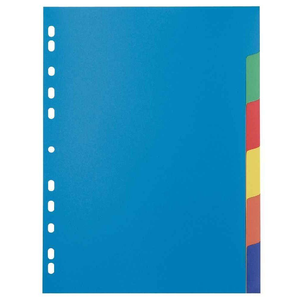 Intercalaires polypropylène 35/100 eme A4 - jeu de 6