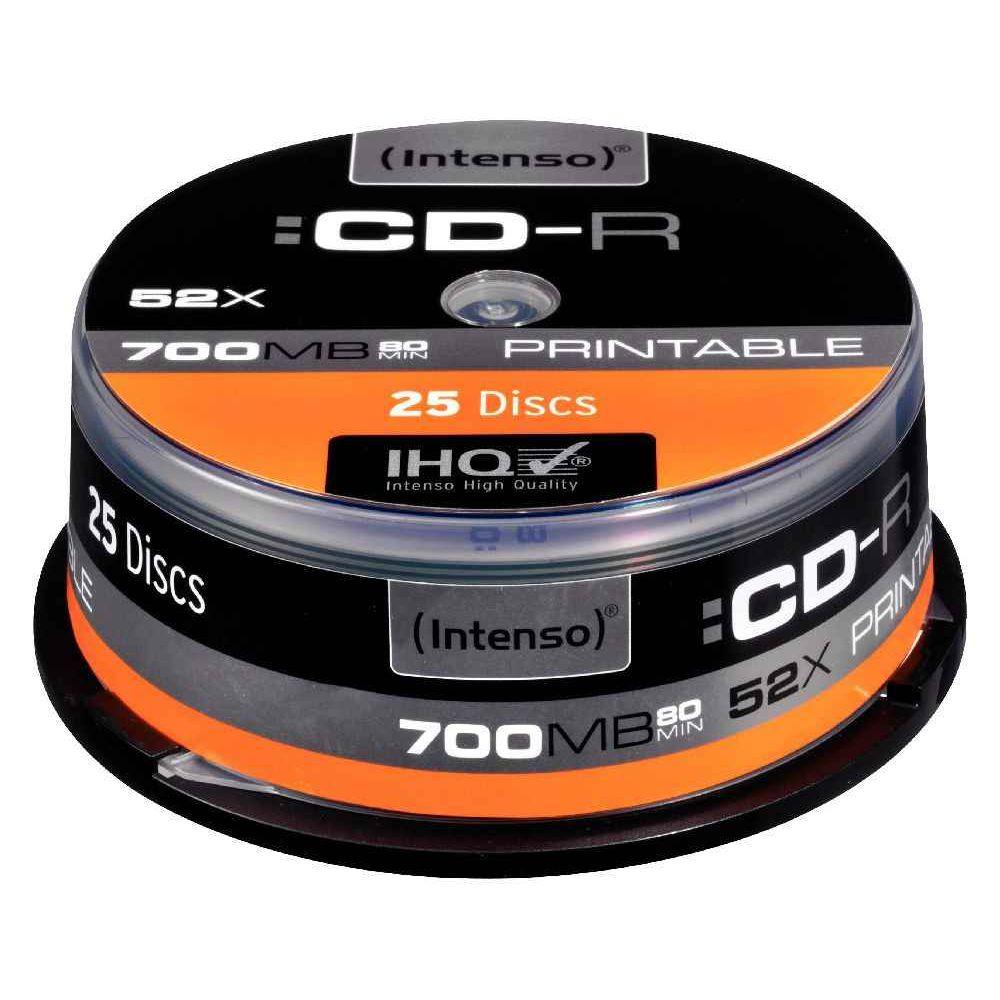 CD-R Intenso 700Mo 52x printable - Lot de 25