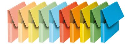 Paquet De 10 Fast-pochette Vip Rabat 24x32x3 Bleu Fournitures de bureau