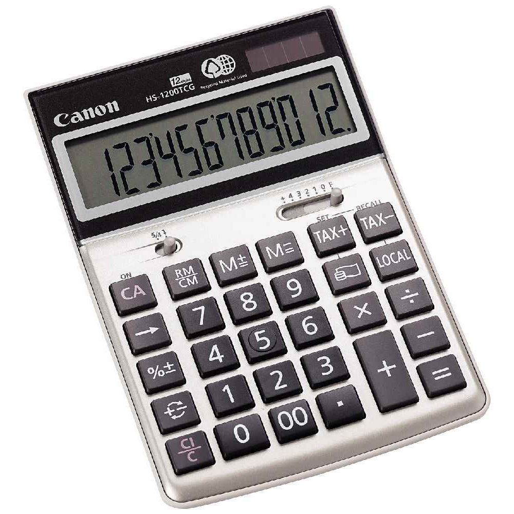Calculatrice semi bureau Canon ecologique 12ch hs1200. Calculatrice semi bureau Canon ecologique 12ch hs1200