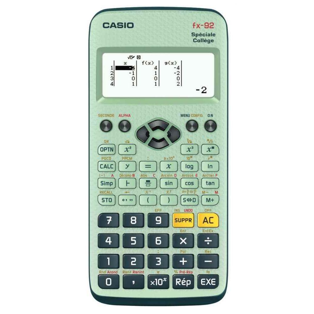 calculatrice scientifique casio fx92 college d2 vente de calculatrices scientifiques la. Black Bedroom Furniture Sets. Home Design Ideas