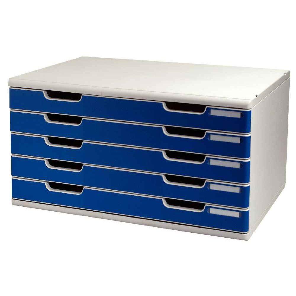 d95c1e5cef733 Module 5 tiroirs modulo A3 gris bleu