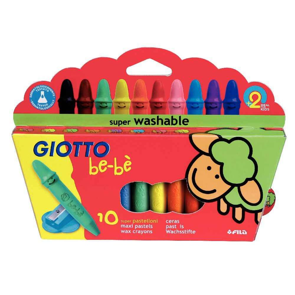 Maxi Crayon Cire Incassable Giotto Bebe Etui De 10 Taille