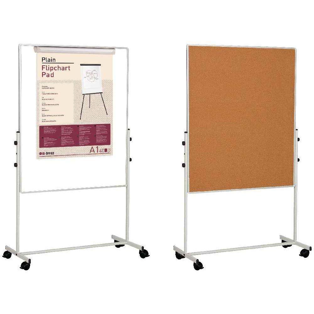 tableau mobile double face 1 li ge 1 tableau blanc bi office vente de panneau d 39 affichage. Black Bedroom Furniture Sets. Home Design Ideas