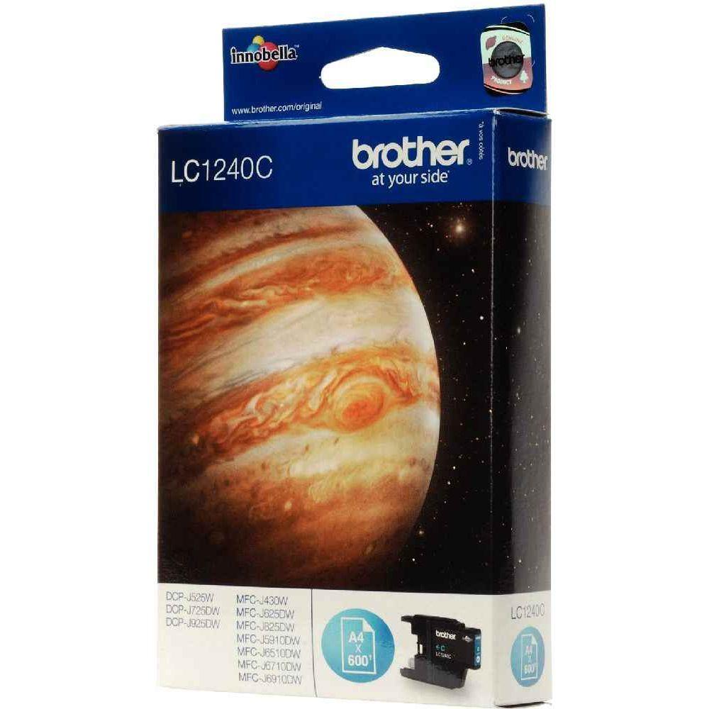 Cartouche Brother lc1240 cyan. Cartouche à la marque Brother LC1240 Cyan pour Imprimante Jet d'Encre Brother.