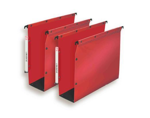 dossier suspendu l 39 oblique polypropylene armoire dos 80mm rouge cerise paquet de 10 vente de. Black Bedroom Furniture Sets. Home Design Ideas