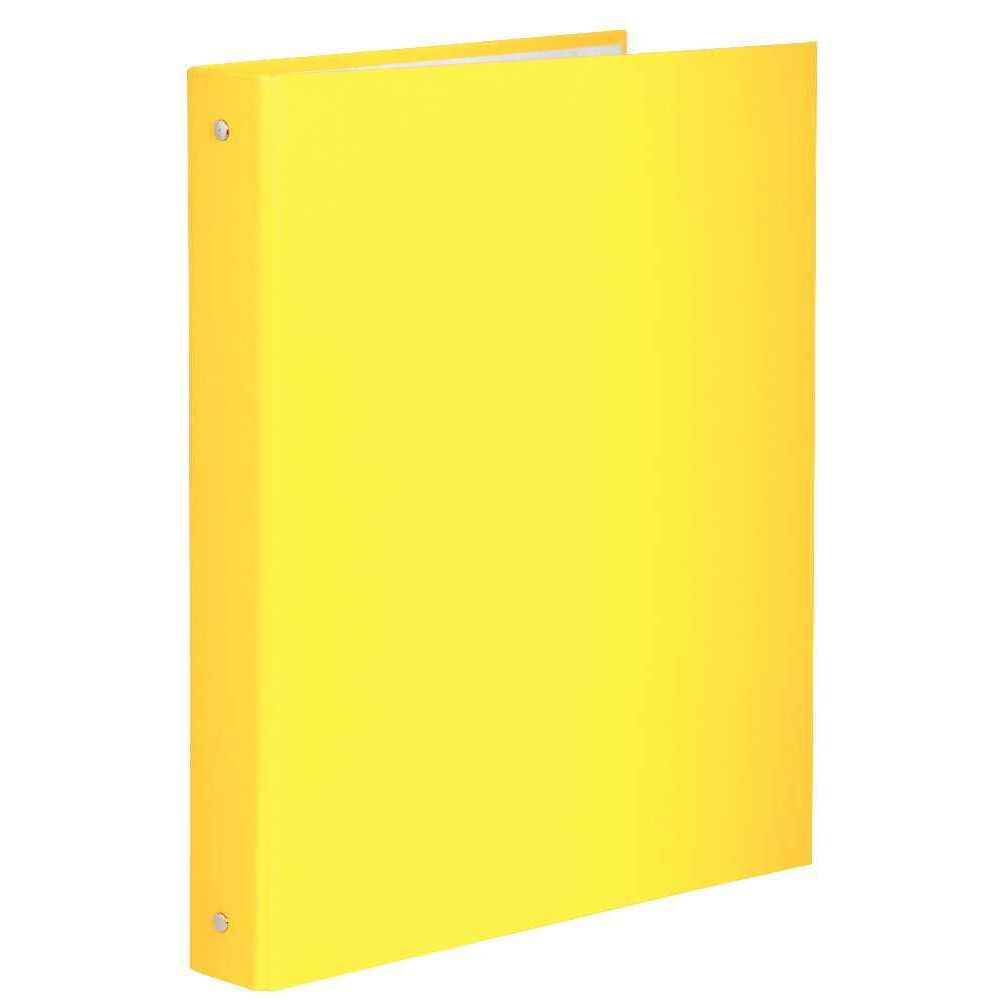 classeur jaune plastique
